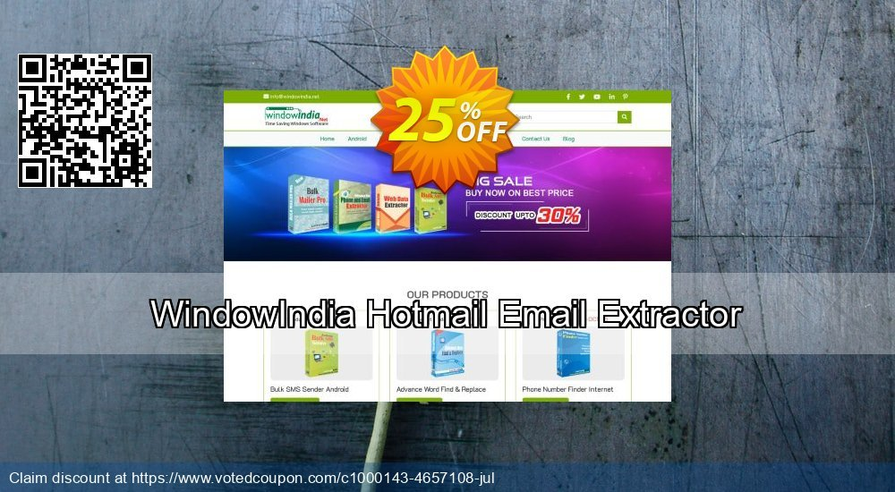Get 25% OFF Hotmail Email Extractor offering sales