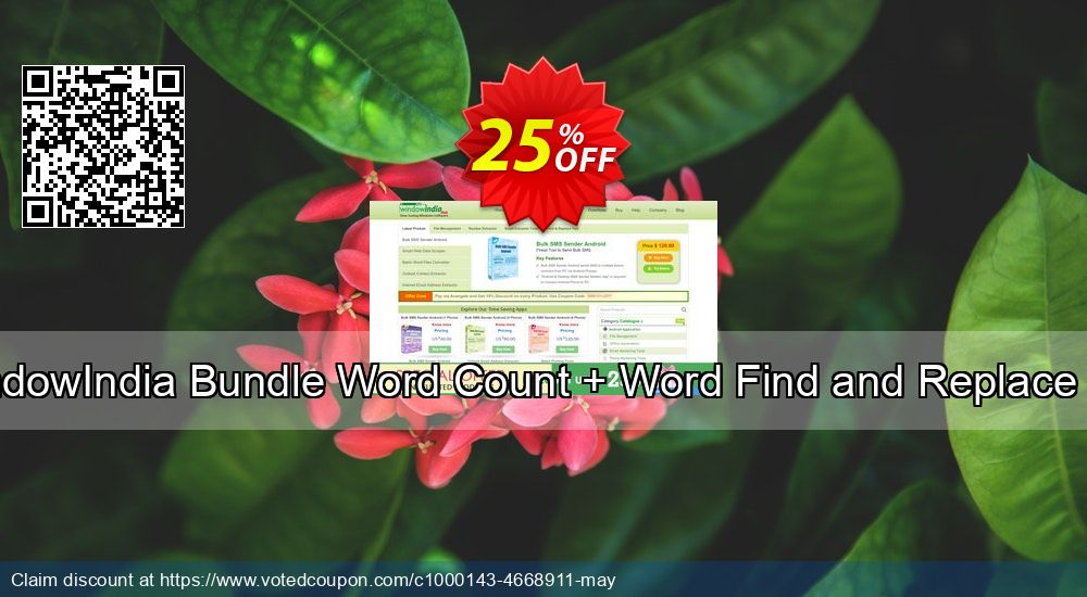 Get 25% OFF Bundle Word Count + Word Find and Replace Pro promotions
