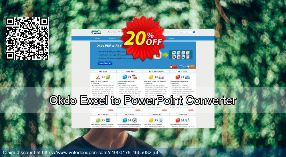 Get 20% OFF Okdo Excel to PowerPoint Converter offer