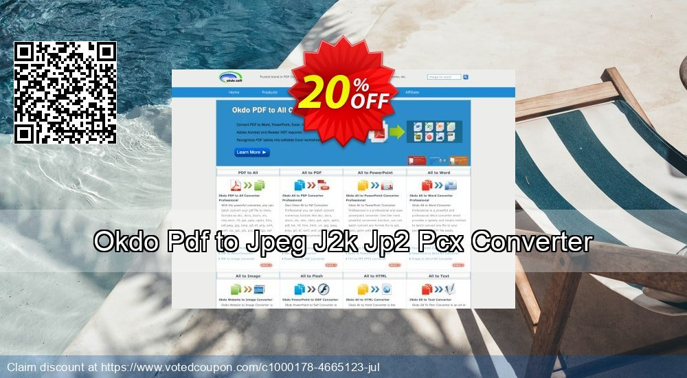 Get 20% OFF Okdo Pdf to Jpeg J2k Jp2 Pcx Converter offering sales