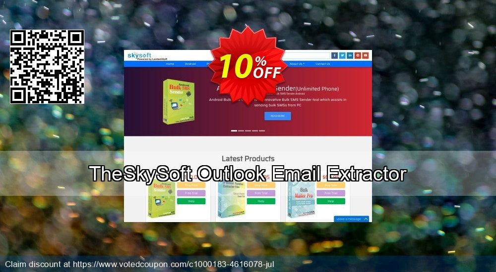 Get 10% OFF Outlook Email Extractor offering sales