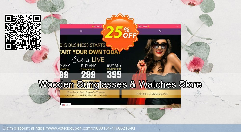 Get 24% OFF Wooden Sunglasses & Watches Store promo sales