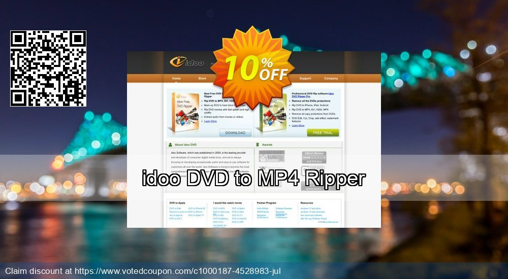 Get 10% OFF idoo DVD to MP4 Ripper offer