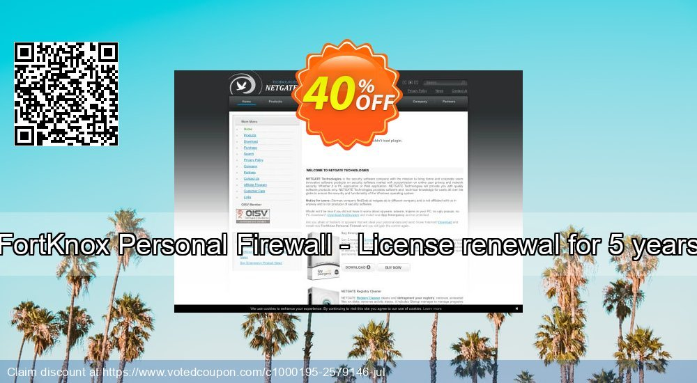 Get 40% OFF FortKnox Personal Firewall - License renewal for 5 years promo