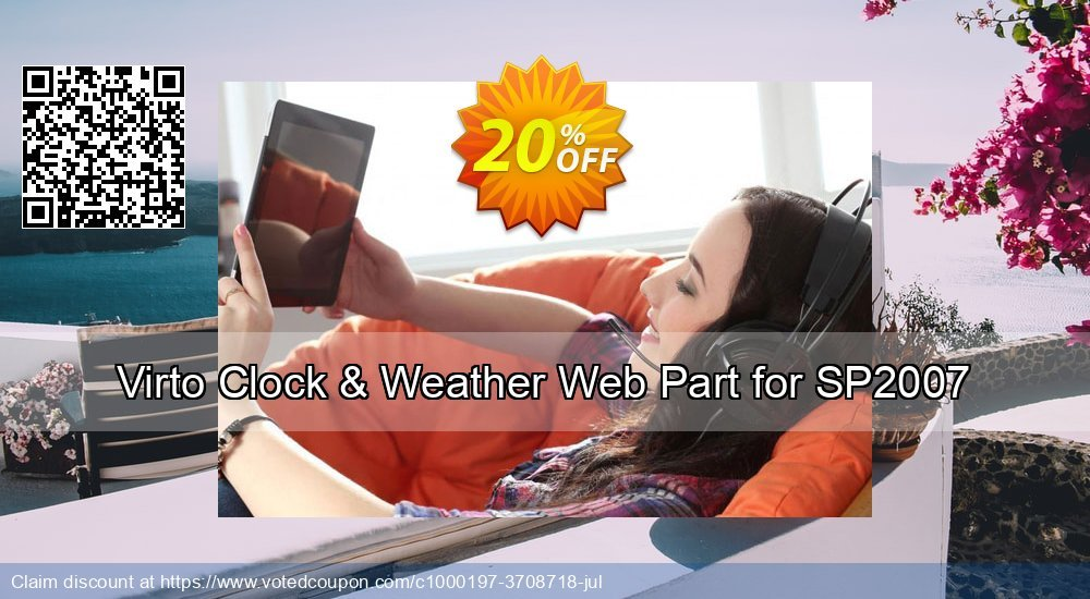 Get 10% OFF Virto Clock & Weather Web Part for SP2007 discount