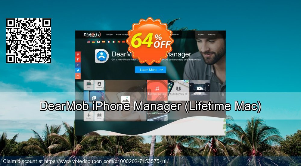 Get 30% OFF DearMob iPhone Manager - Lifetime Mac promo