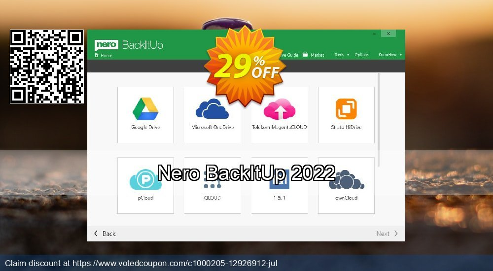 Get 29% OFF Nero BackItUp 2019 offering sales