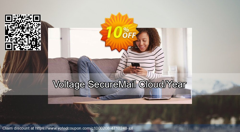 Get 10% OFF Voltage SecureMail Cloud/Year discounts