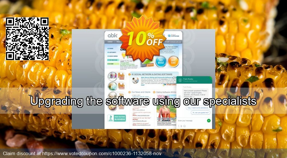 Get 10% OFF Upgrading the software using our specialists offering sales