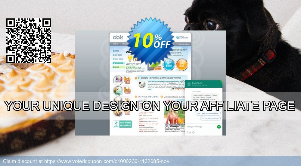 Get 10% OFF YOUR UNIQUE DESIGN ON YOUR AFFILIATE PAGE offering sales