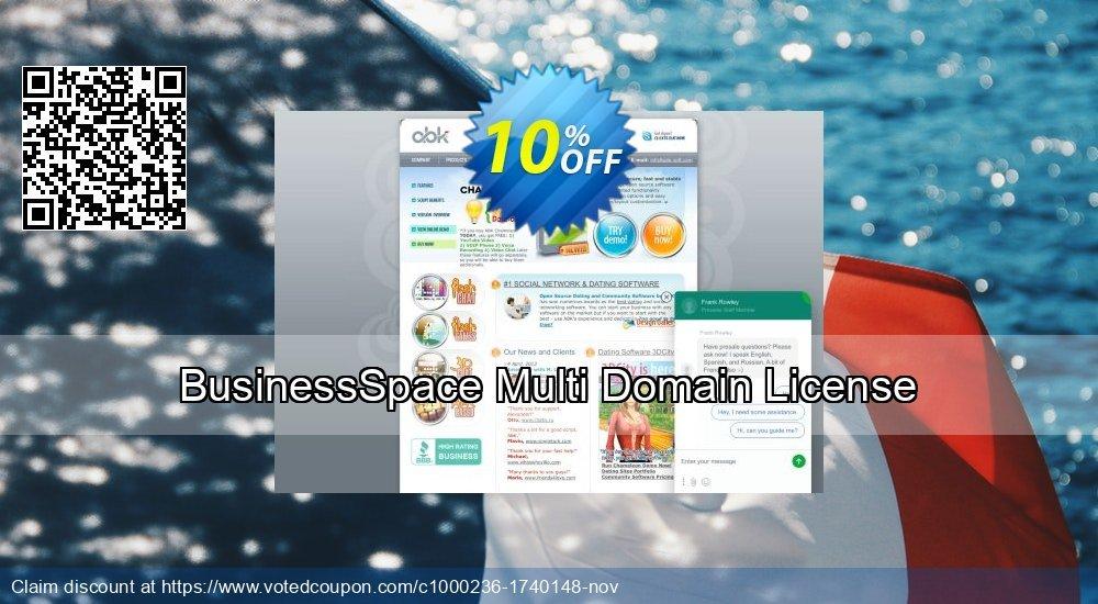 Get 10% OFF BusinessSpace Multi Domain License deals