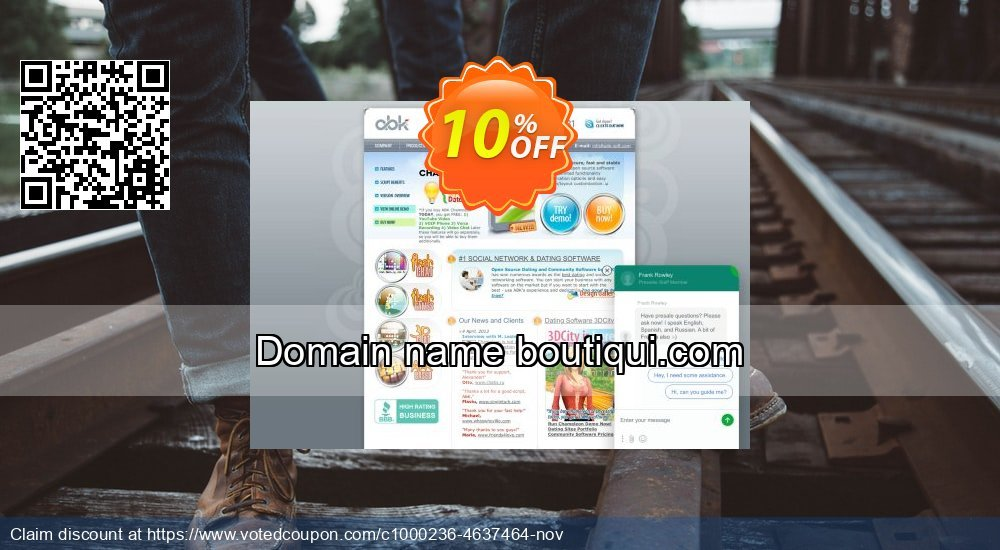 Get 10% OFF Domain name boutiqui.com offering sales