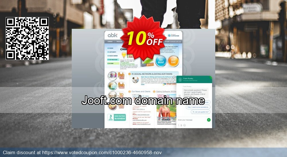 Get 10% OFF Jooft.com domain name offering sales