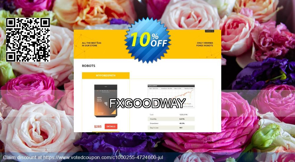 Get 10% OFF FXGOODWAY promo sales