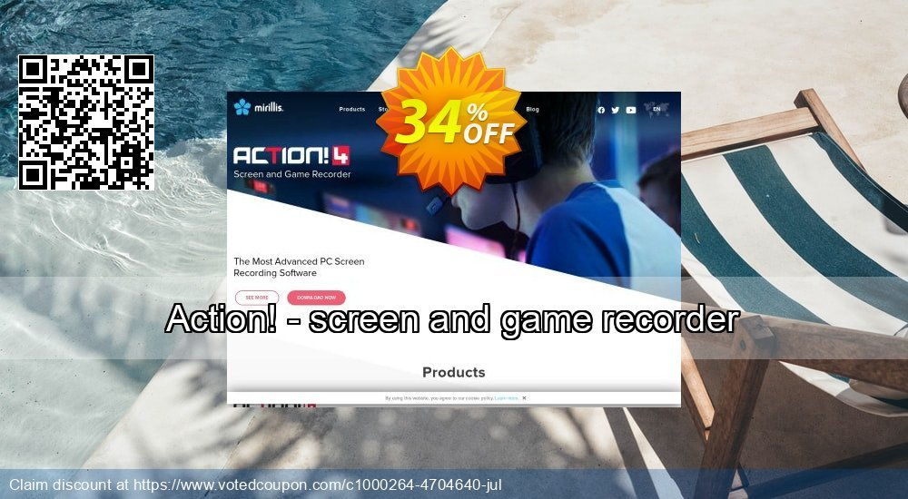 Get 34% OFF Action! - screen and game recorder promotions