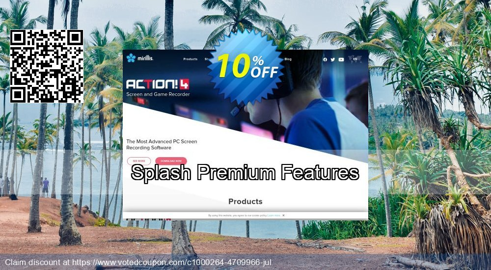 Get 10% OFF Splash Premium Features promo