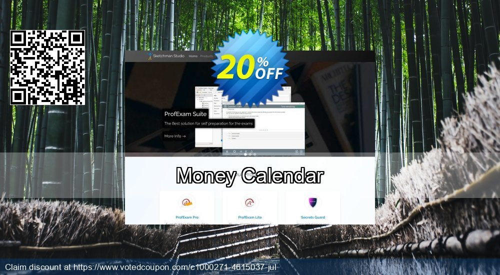 Get 20% OFF Money Calendar offering sales
