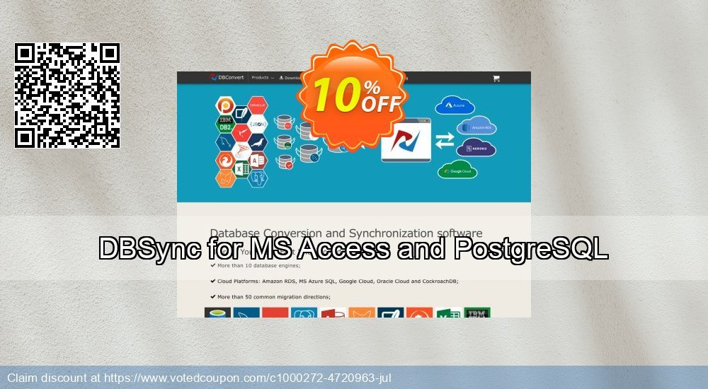 Get 10% OFF DBSync for MS Access and PostgreSQL promo sales
