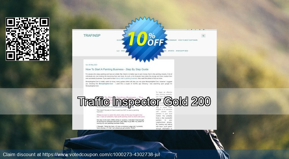 Get 10% OFF Traffic Inspector Gold 200 offering sales