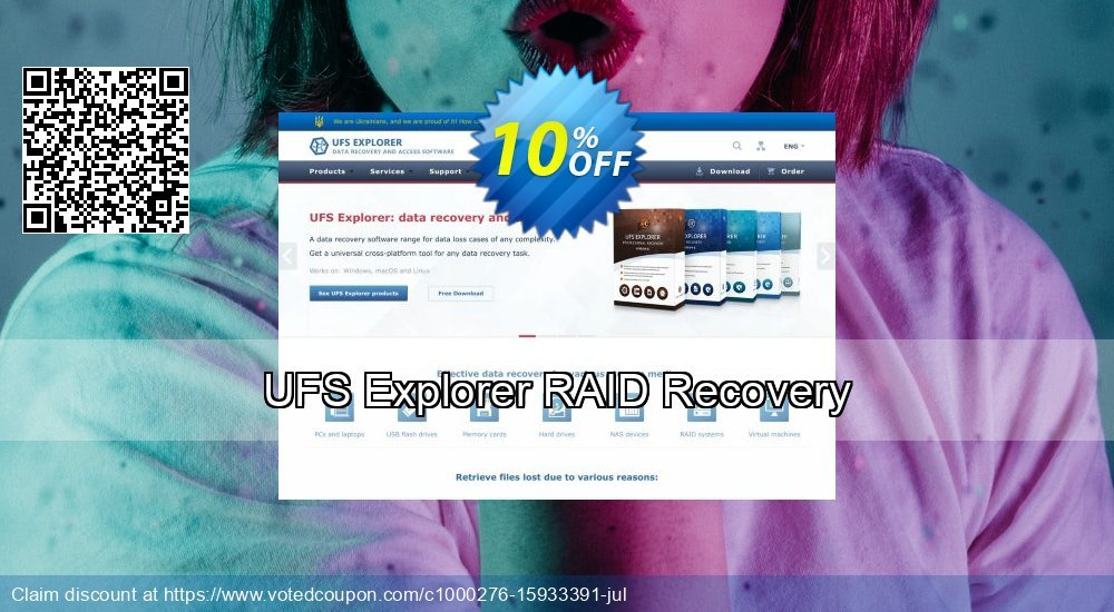 Get 10% OFF UFS Explorer RAID Recovery Coupon