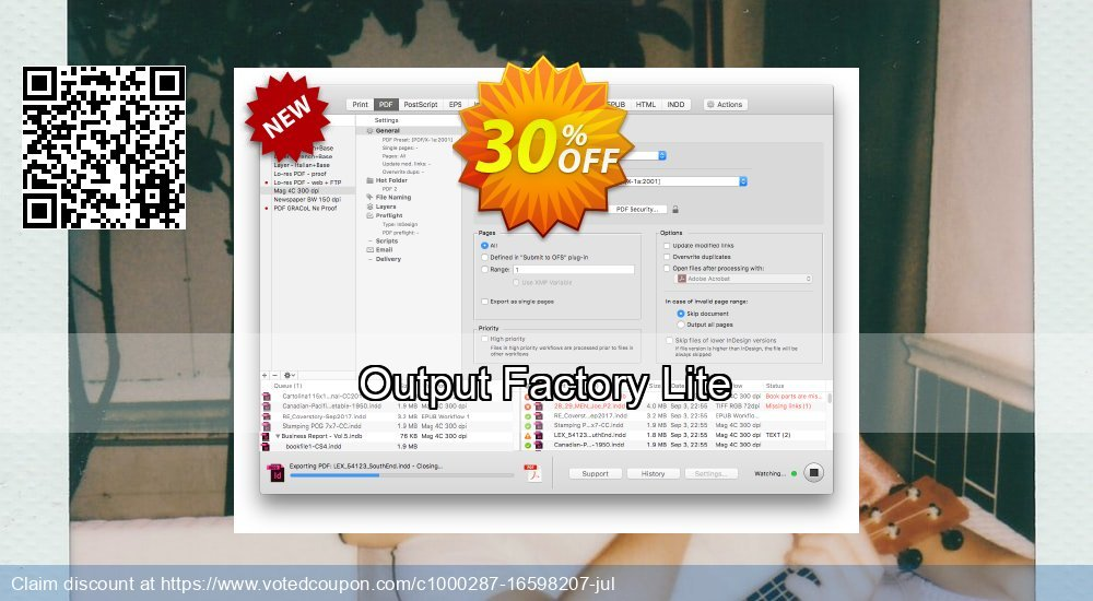 Get 10% OFF Output Factory Lite promo