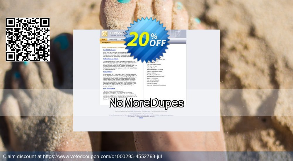 Get 20% OFF NoMoreDupes discount