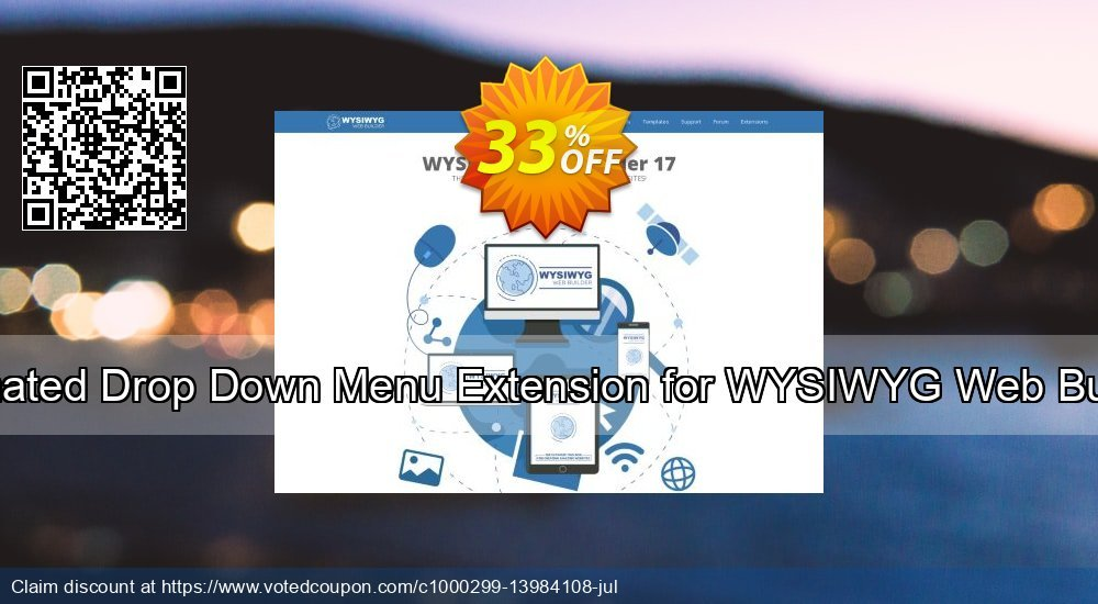 Get 10% OFF Animated Drop Down Menu Extension for WYSIWYG Web Builder offering deals