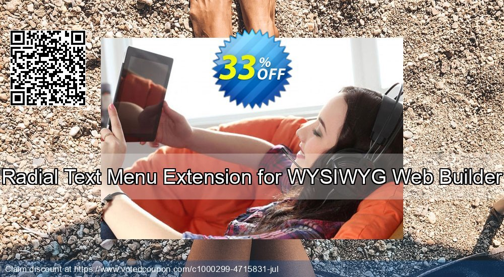 Get 10% OFF Radial Text Menu Extension for WYSIWYG Web Builder offering sales