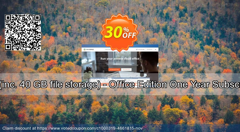 Get 30% OFF 6-10 users (inc. 40 GB file storage) - Office Edition One Year Subscription (Old) offering sales