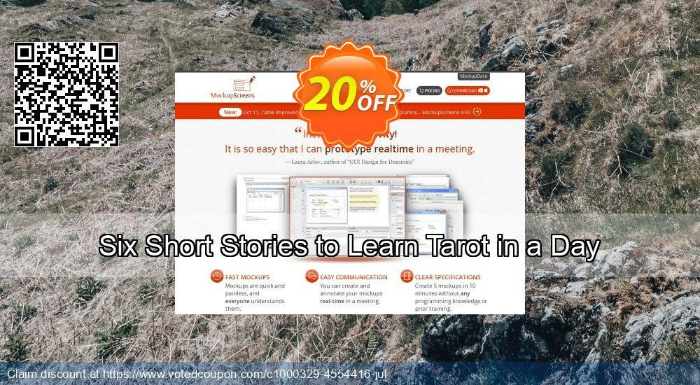Get 20% OFF Six Short Stories to Learn Tarot in a Day offering sales