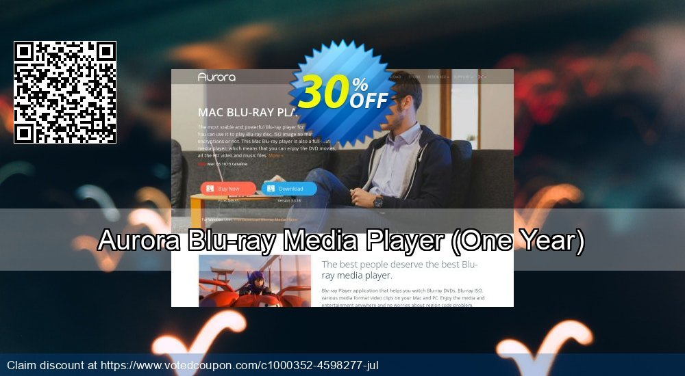Get 30% OFF Aurora Blu-ray Media Player (One Year) offering sales