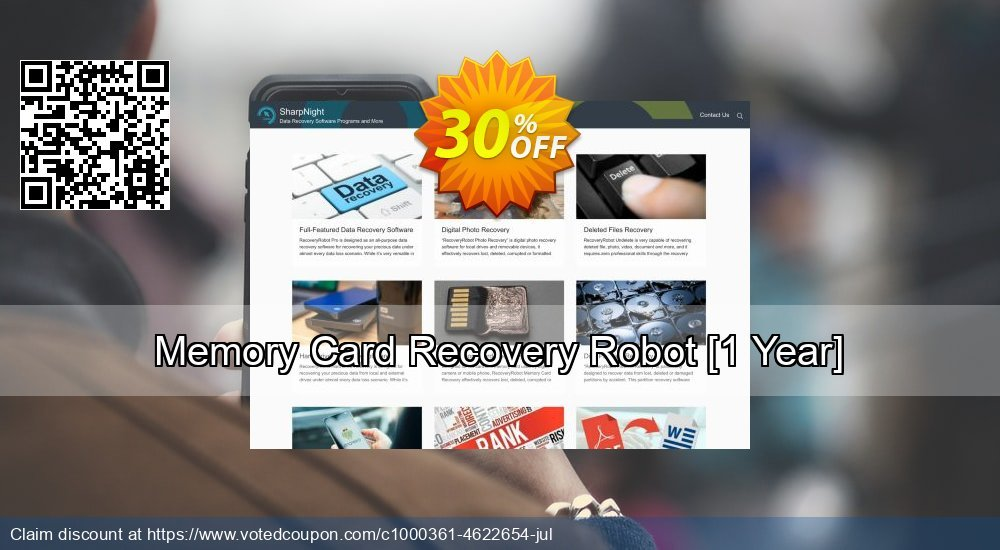 Get 30% OFF Memory Card Recovery Robot [1 Year] offering sales