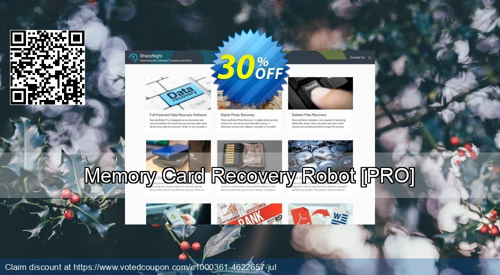 Get 30% OFF Memory Card Recovery Robot [PRO] offering sales