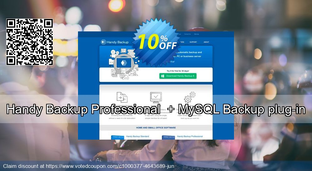 Get 10% OFF Handy Backup Professional + MySQL Backup plug-in offering deals