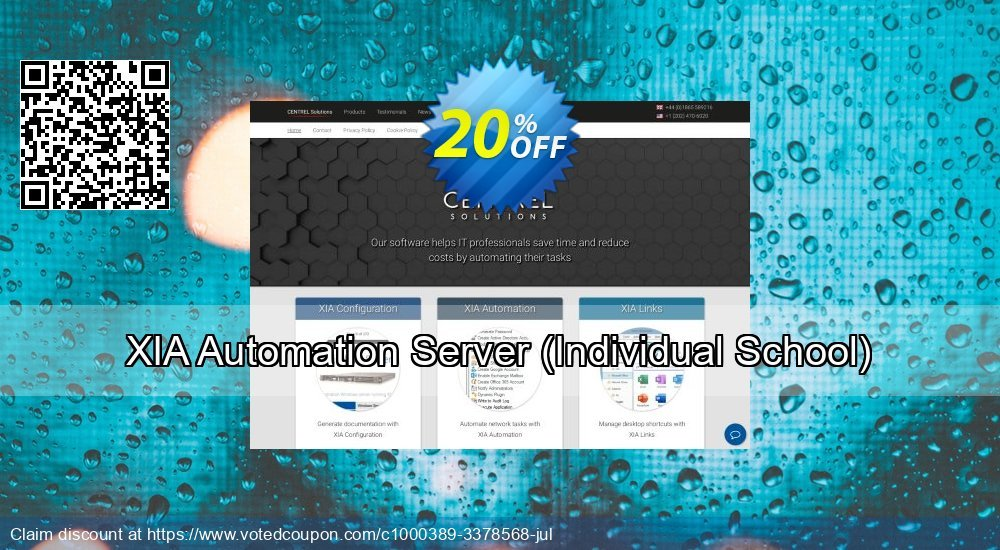 Get 20% OFF XIA Automation Server (Individual School) offering sales
