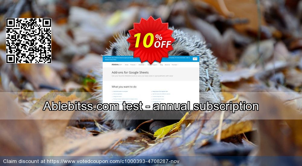 Get 10% OFF Ablebitss.com test - annual subscription discounts