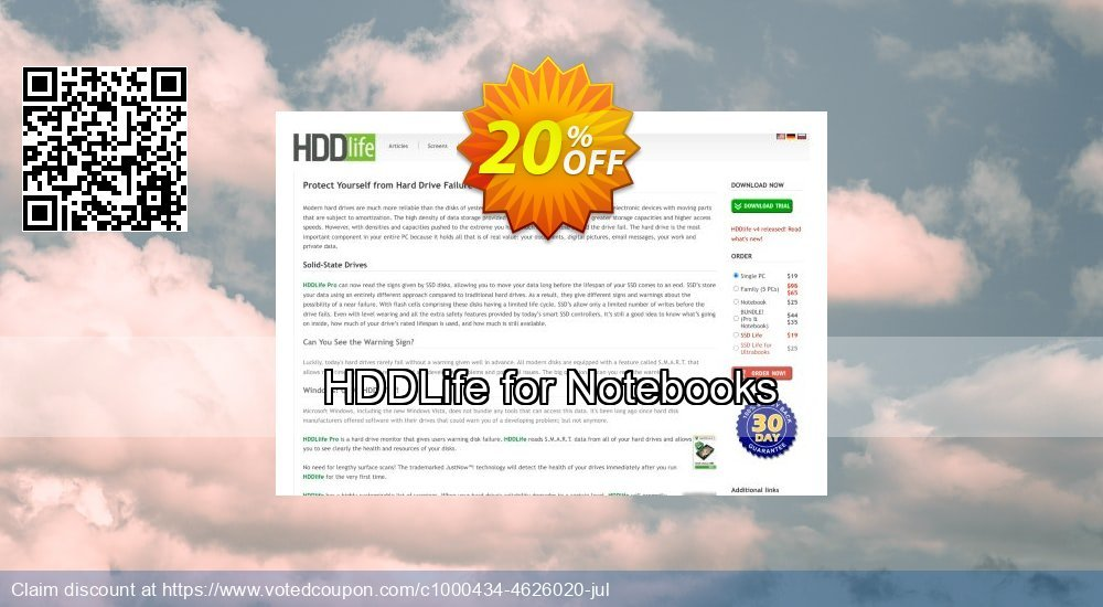 Get 10% OFF HDDLife for Notebooks promo sales