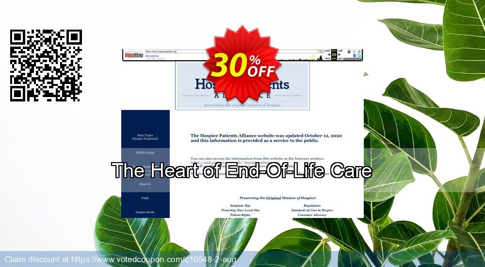 Get 30% OFF The Heart of End-Of-Life Care promotions