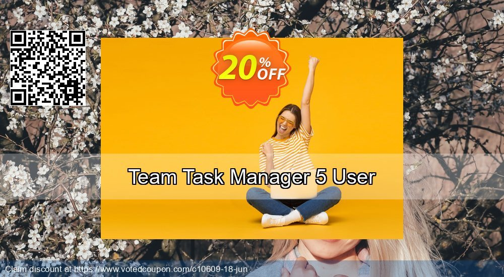 Get 20% OFF Team Task Manager 5 User deals