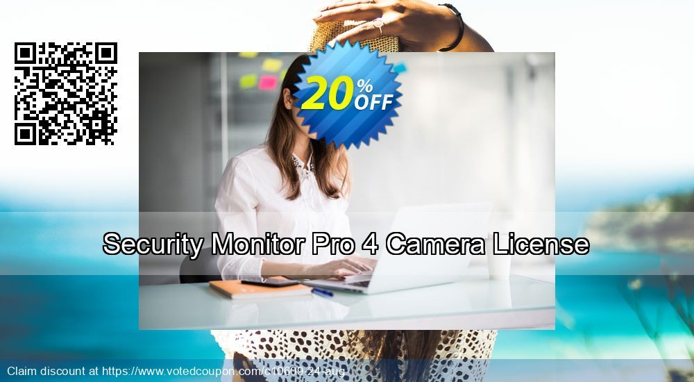 Get 20% OFF Security Monitor Pro 4 Camera License offering sales