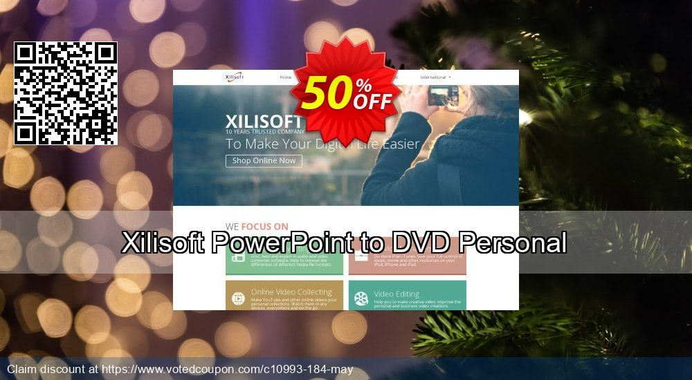 Get 50% OFF Xilisoft PowerPoint to DVD Personal offering sales