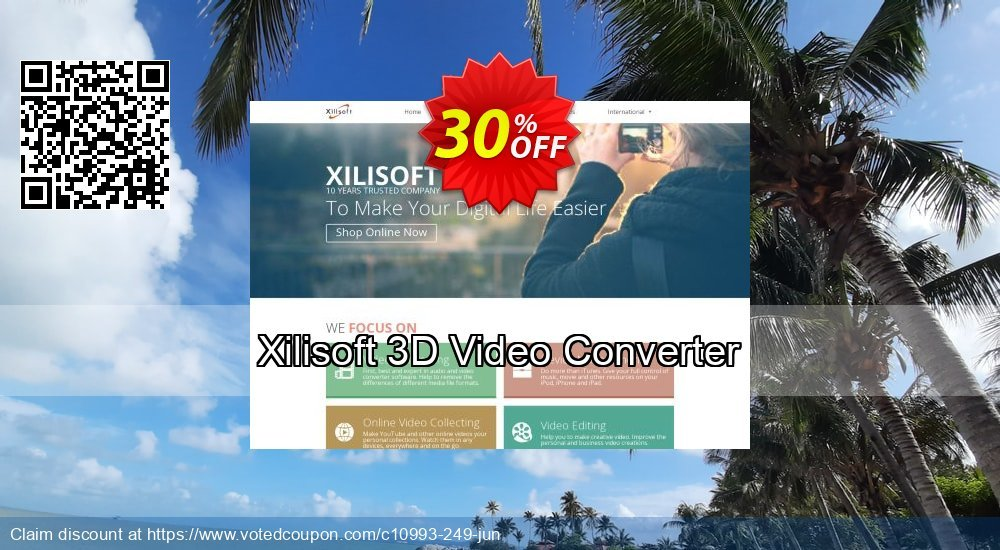 Get 30% OFF Xilisoft 3D Video Converter offering deals
