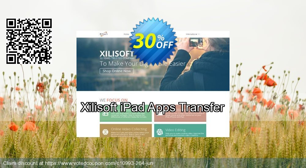 Get 30% OFF Xilisoft iPad Apps Transfer offer