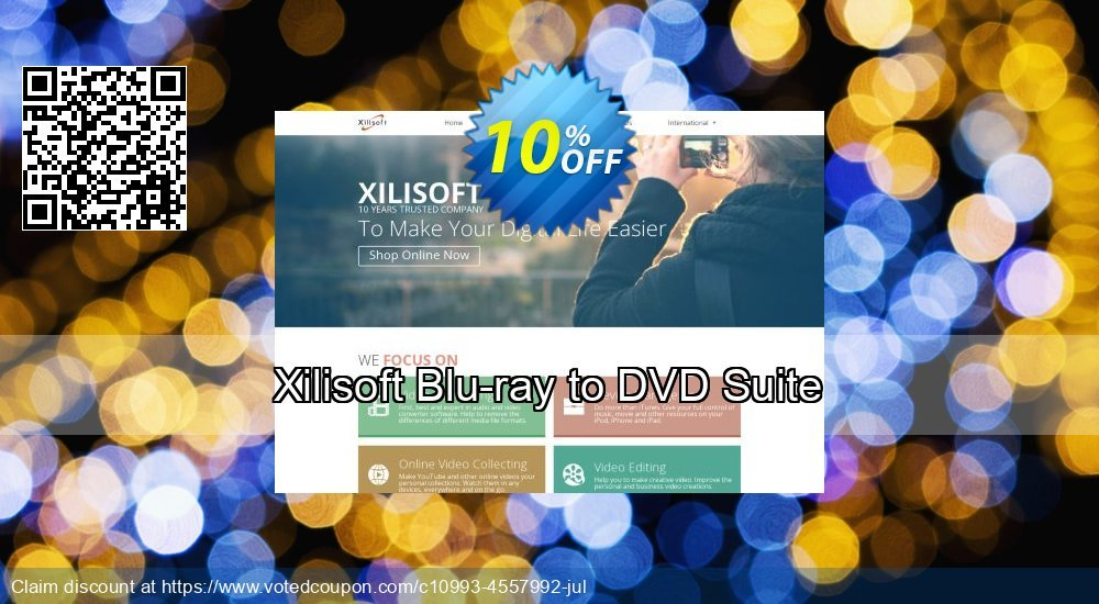 Get 10% OFF Xilisoft Blu-ray to DVD Suite offering sales
