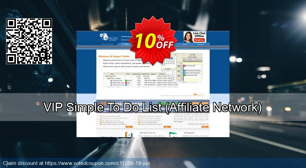 Get 10% OFF VIP Simple To Do List (Affiliate Network) sales