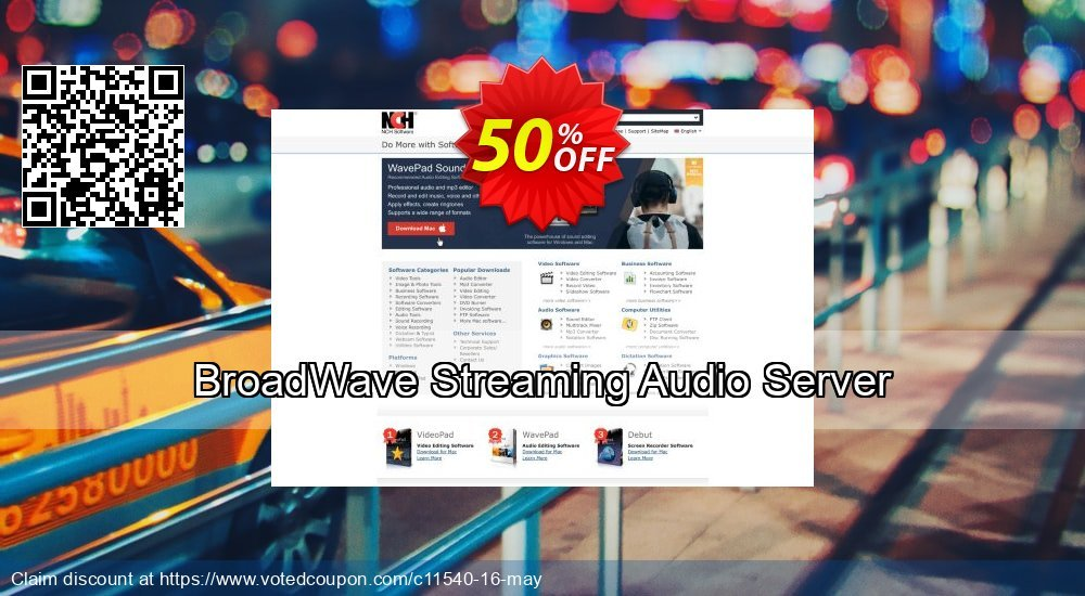 Get 15% OFF BroadWave Streaming Audio Server sales