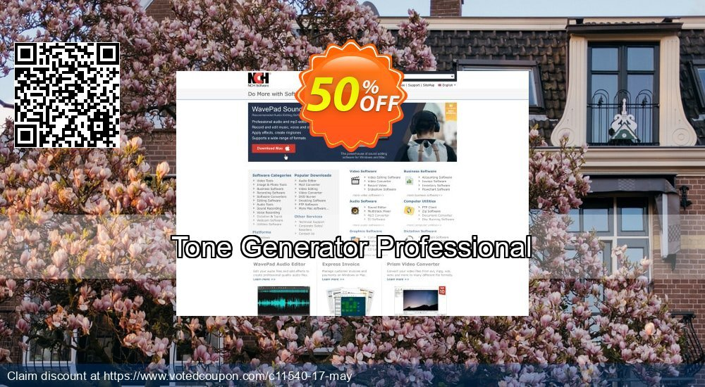 Get 15% OFF Tone Generator Professional promotions