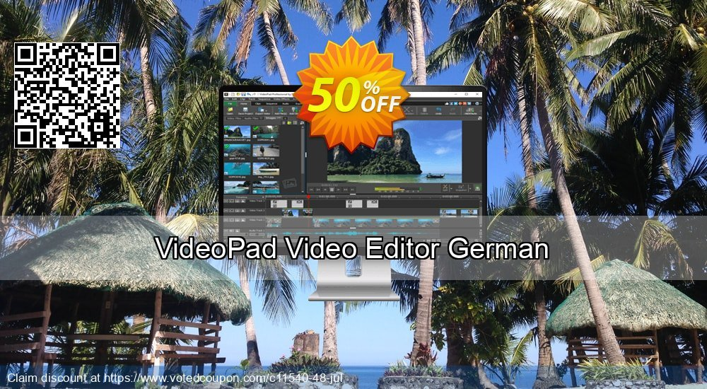 Get 15% OFF VideoPad Video Editor German offering sales