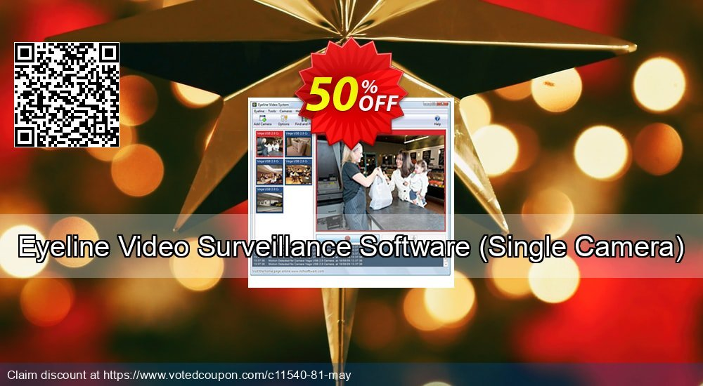 Get 15% OFF Eyeline Video Surveillance Software - Single Camera promo