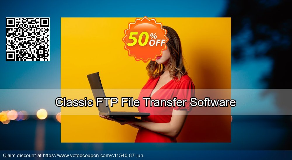 Get 15% OFF Classic FTP File Transfer Software offering sales